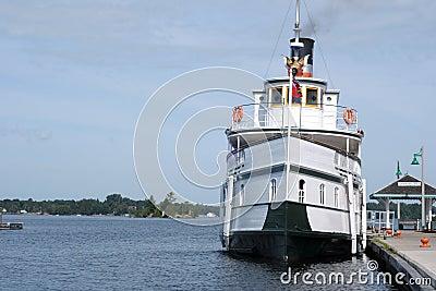 Restored steam powered cruise ship