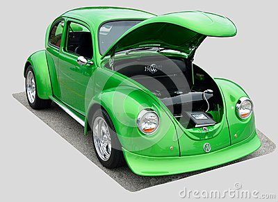 Restored 1972 Volkswagen Beetle Editorial Photo