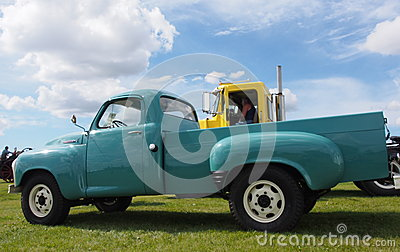 Restored Antique Studebaker Half Ton Truck With A V8 Engine Editorial Photography