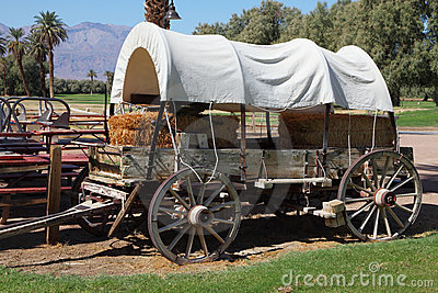 Restored antique wagon