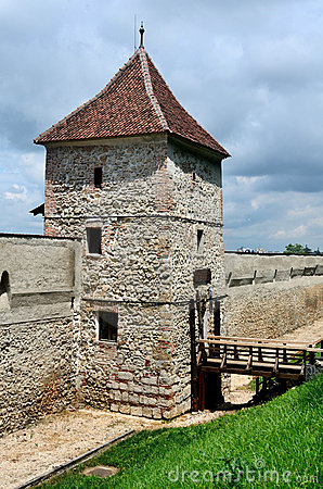Restored bastion of Brasov fortress, Romania