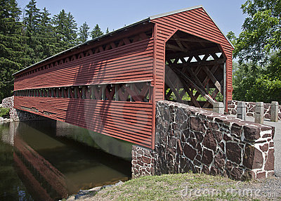 Restored Civil War-Era Cover Bridge