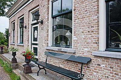 Restored house in the Dutch village of Drimmelen