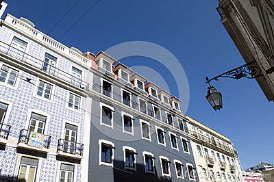 Restored Old Buildings Facades_Lisbon_Travel_Europe