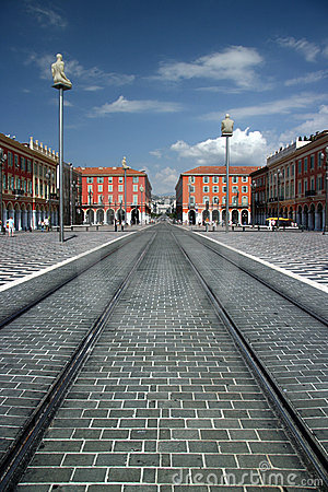 Free Restored Place Massena - Nice France Stock Images - 11088434
