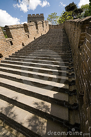 Restored Steps Mutianyu Great Wall, Beijing, China