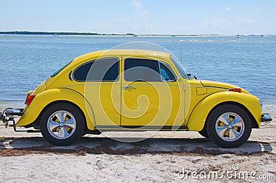 Restored vintage 1974 Volkswagen Super Beetle