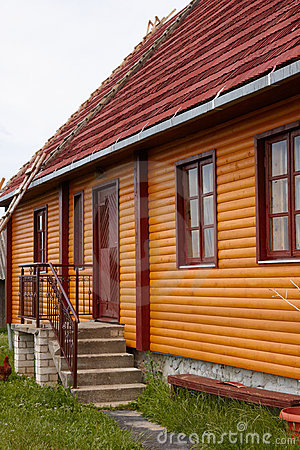 Restored wooden house