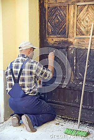 Restoring old door