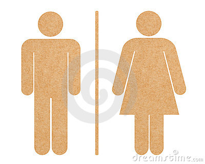 Restroom icon set isolated