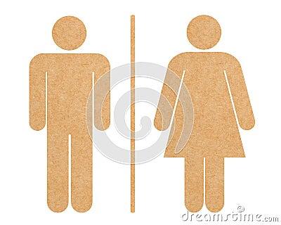 Restroom icon set isolated