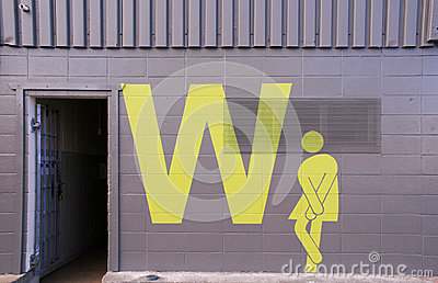 restroom sign (women)