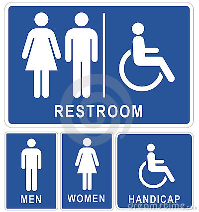 Free Restroom Signs Stock Photos - 19861183