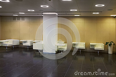 Restroom with tables
