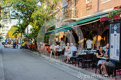 Resturant outdoors Editorial Stock Photo