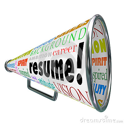 Resume Bullhorn Megaphone Sell Your Skills Experience