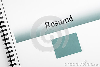 Resume and Matching Sticky Note
