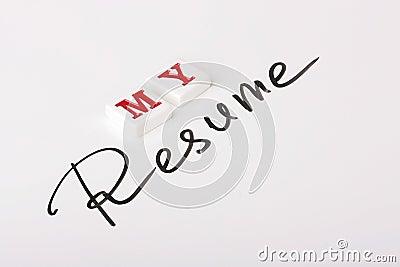 resume word stock photos image 15075033