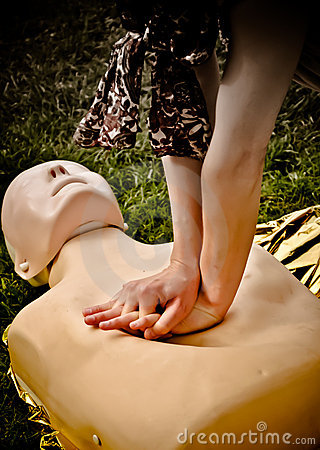 Free Resuscitation. First Aid Training. HDR Photo Stock Images - 22998324