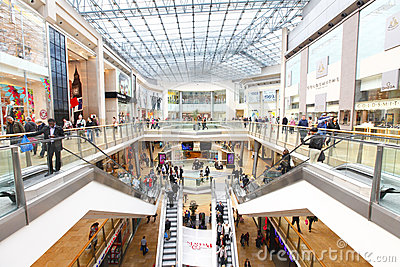 Retail shopping mall Editorial Image