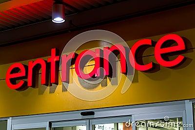 Retail store entrance
