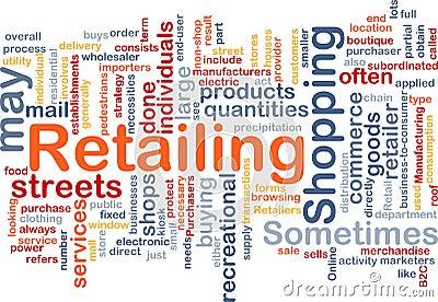Retailing Word Cloud Royalty Free Stock Photo Image