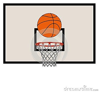 Rete e piano di sostegno di pallacanestro