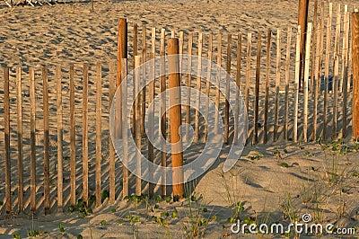 Rete fissa nella sabbia