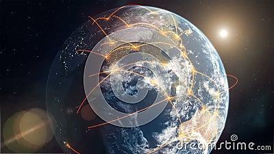Rete globale - arancia