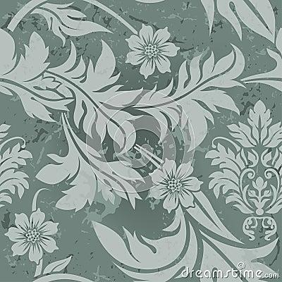 Reticolo floreale grigio