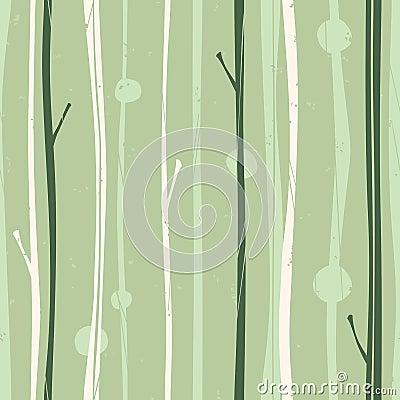 Reticolo sereno della foresta