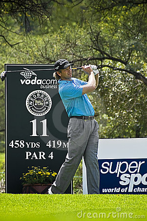 Retief Goosen - 11th Tee - NGC2009 Editorial Stock Image