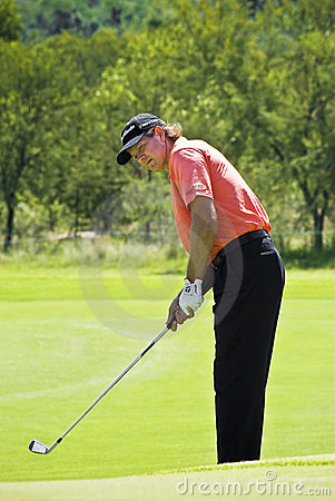 Retief Goosen - Wedge Shot - NGC2009 Editorial Stock Image