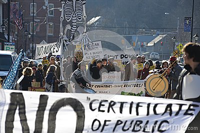 Retire Vermont Yankee Rally Editorial Stock Photo