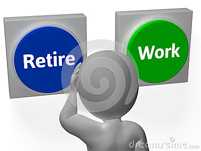 Retire Work Buttons Show Job Or Retired
