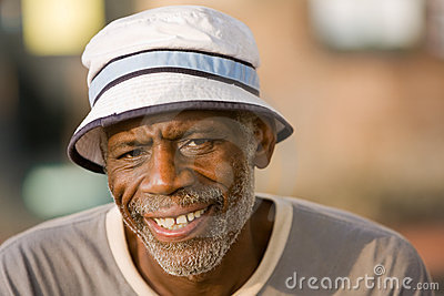 Retired African American Man Smiling