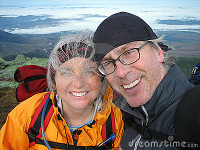 Retired Couple Hiking