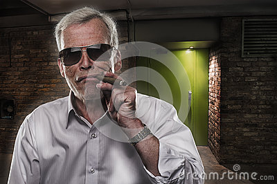 Retired man with strong personality