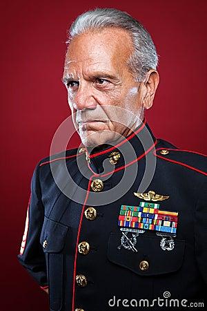 Retired Marine in Uniform