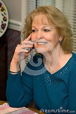 Senior Talking Cellphone