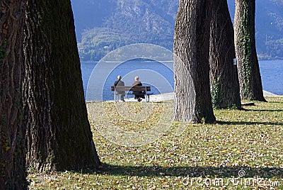 Retired senior couple leisure