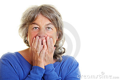 Retired woman is frightened