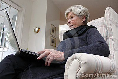 Retired Woman with Laptop