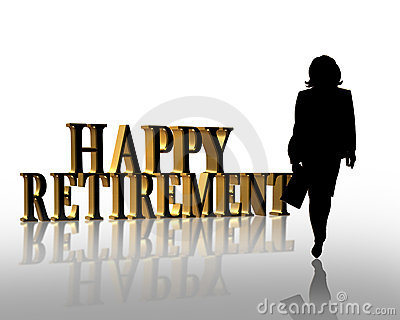 Retirement Business woman 3D graphic
