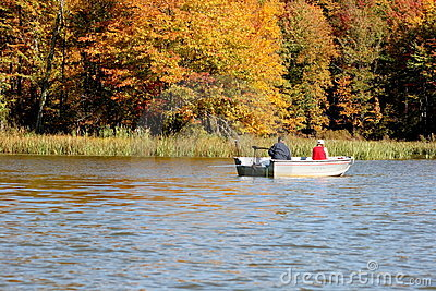 Retirement fishing in the fall