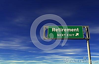 Retirement - Freeway Exit Sign