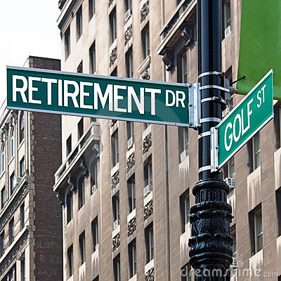 Free Retirement Golf Street Signs Royalty Free Stock Image - 15463796