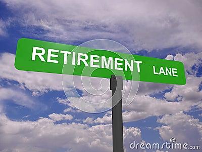 Retirement lane signpost