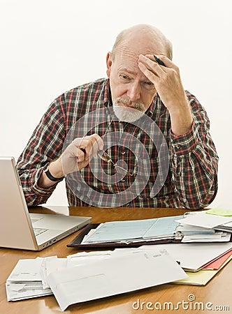 Free Retirement Money Worries Stock Photography - 11469592
