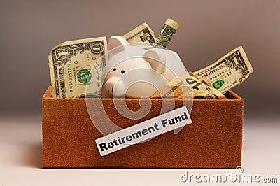 Retirement savings in box